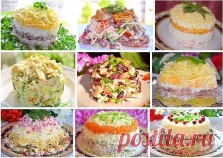 9 очень ВКУСНЫХ салатиков от Натальи Чагай!!! Сохраните на стену, чтобы не п...