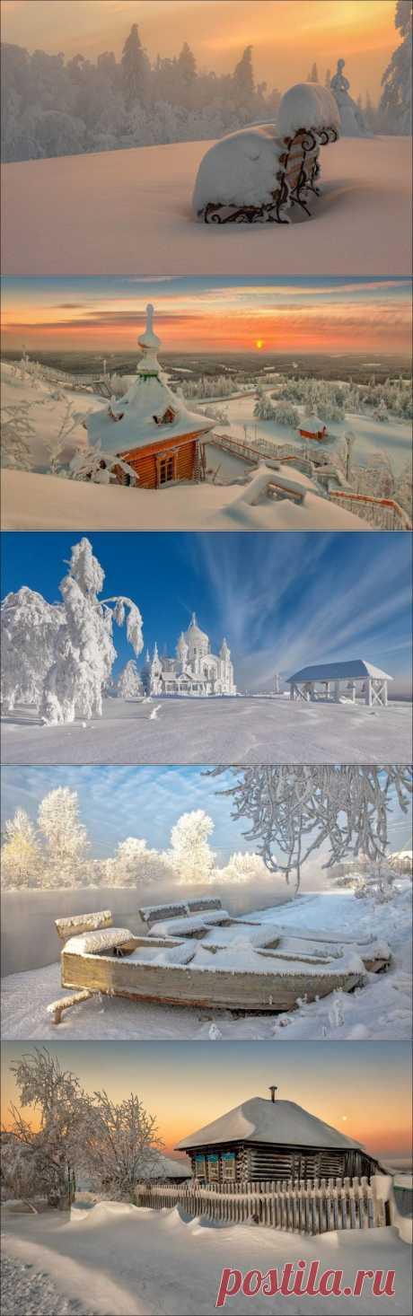 Русская зима. Уходящей зиме посвящается.