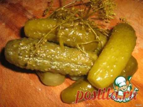 Деревенские солeные огурчики - кулинарный рецепт
