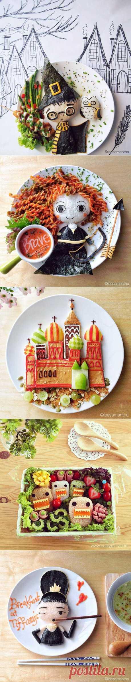 Художница превращает блюда в шедевры : НОВОСТИ В ФОТОГРАФИЯХ