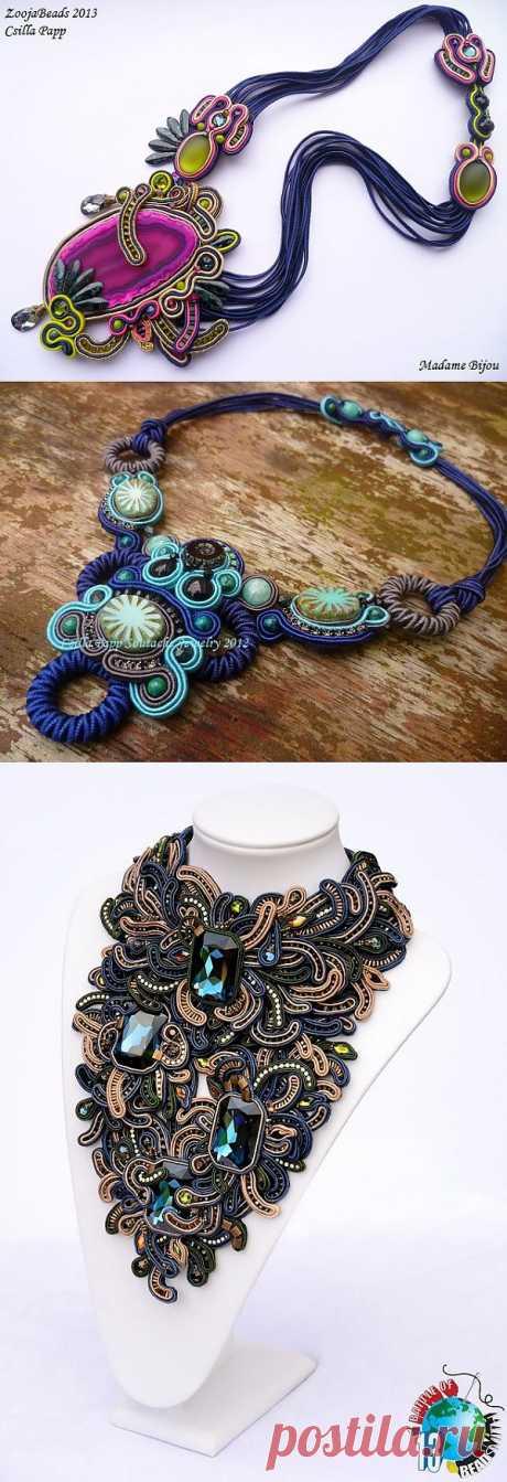 Украшения в технике сутажной вышивки от Csilla Papp Soutache Jewelry. Часть III.