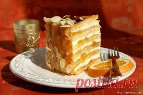 Песочный торт *Апельсин*.