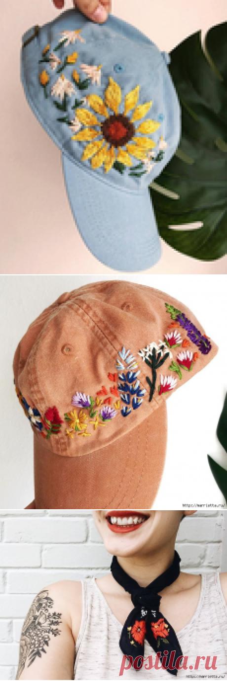 Вышивка на кепке. Идеи декорирования
