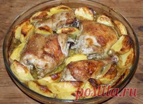 Куриные голени с картошкой в духовке - простые и вкусные рецепты Здравствуйте! Не могу придумать повода, при котором это блюдо не было бы уместно на столе. Куриные голени с картошкой —