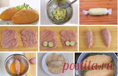 Легендарный рецепт: Котлеты по-киевски.   Рецепт моей бабули!   Ингредиенты — 4 шт. филе куриное— 2 шт. яйца куриные— 100 г масло сливочное— 400 г масло подсолнечное— сухари панировочные— пучок зелень— по вкусу соль— по вкусу перец черныйПр…