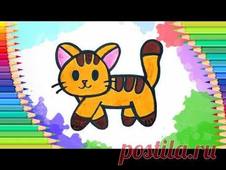 Как нарисовать котенка l Учимся рисовать - YouTube