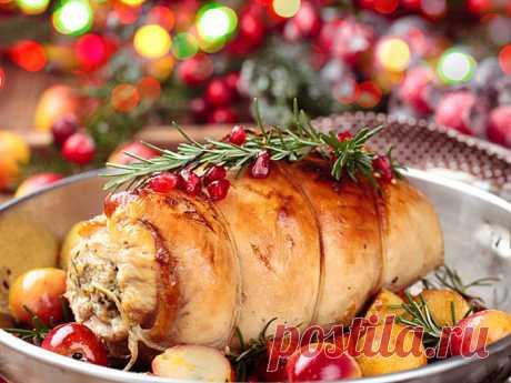 Что приготовить на Новый год 2018: мясной рулет с грибами - Фото-рецепт - Smak
