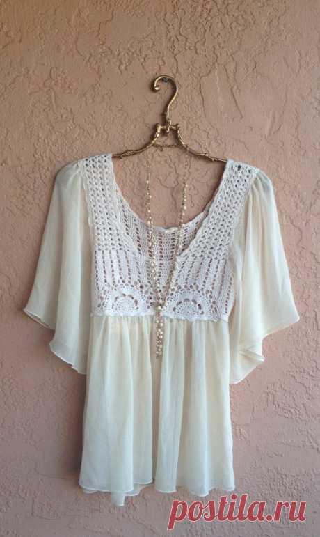 Симпатичные блузки в винтажном стиле