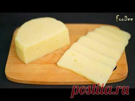 Делюсь рецептом наших мам и бабушек! Домашний СЫР за 15 минут Вашего времени из 2 ингредиентов - YouTube* ОБЯЗАТЕЛЬНО берите только натуральные молочные продукты без растительных жиров!  Чтобы сделать домашний твердый сыр из творога:  Творог 5% – 400 г Молоко – 400 г Соль – по вкусу (я добавила 0,5 ч.л.) Сода – одна треть – половина чайной ложки (сначала добавляю одну треть, при необходимости добавляю еще, но не более 0,5 ч.л.) Сливочное масло – 10-15 г (можно не добавлять)