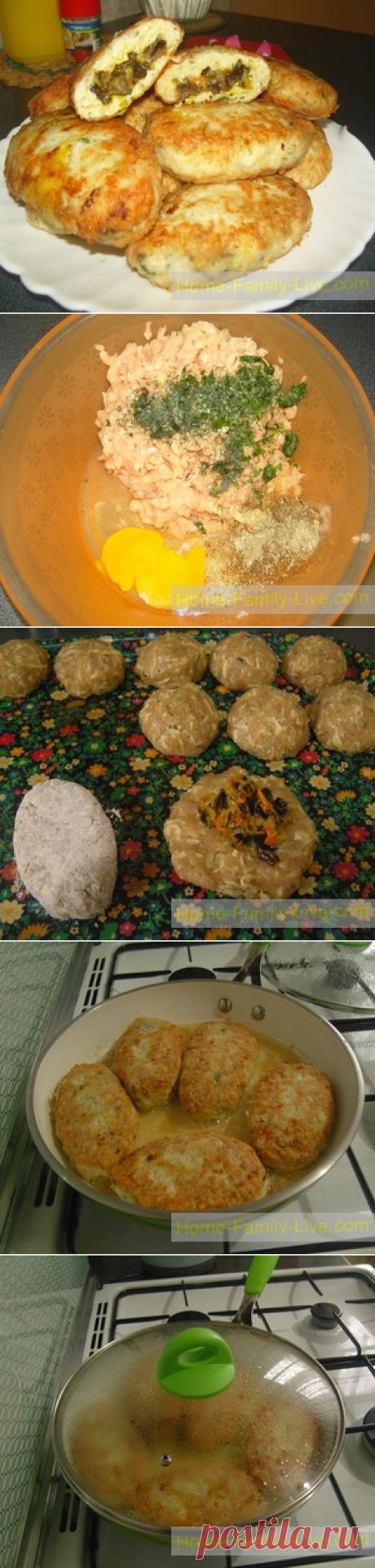 Котлеты с начинкой/Сайт с пошаговыми рецептами с фото для тех кто любит готовить