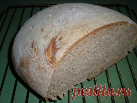 Заварной пшенично-ржаной хлеб на натуральной закваске.   Любимые рецепты