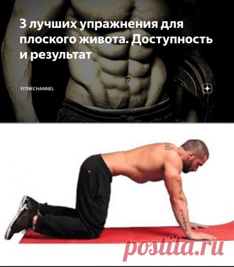 3 лучших упражнения для плоского живота. Доступность и результат | fitnechannel | Яндекс Дзен