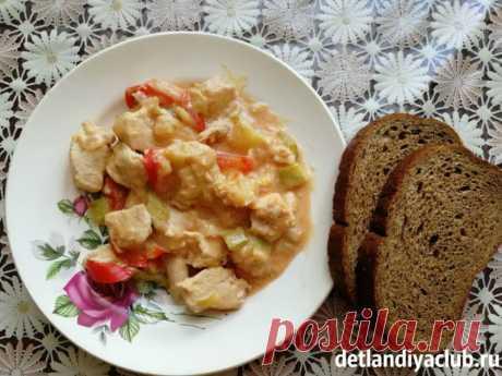Овощное рагу с кабачками, картошкой, мясом и капустой