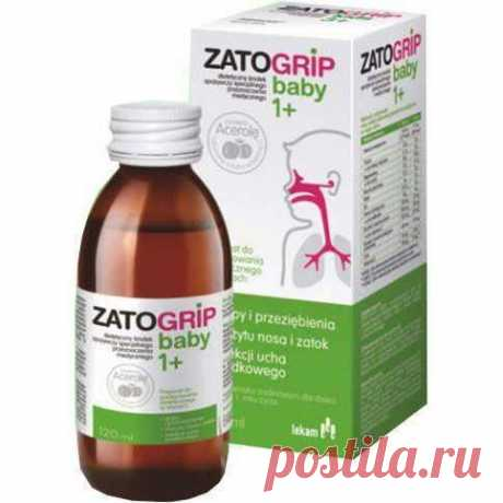 Zatogrip baby 1+ Syrup 120 ml, middle ear infections