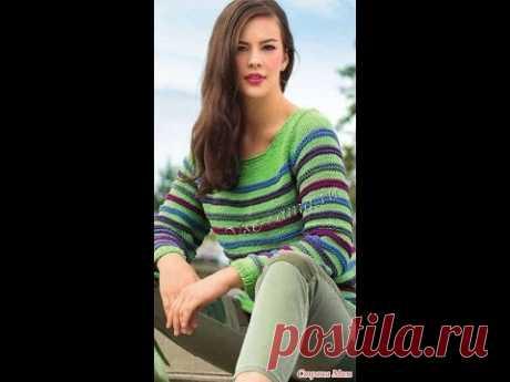 Полосатый Свитер Спицами - 2019 / Striped Sweater Knitting Needles