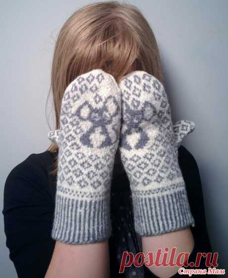 Варежки с мышками - Вязание для детей - Страна Мам