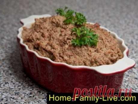 Паштет из печени/Сайт с пошаговыми рецептами с фото для тех кто любит готовить
