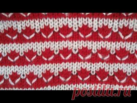 Two color Knitting pattern in knitting machine #29(निटिंग मशीन में  दो कलर का निटिंग डिजाइन #29)