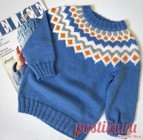 Детский свитер Лопапейса (есть схема кокетки) - Вязание - Страна Мам