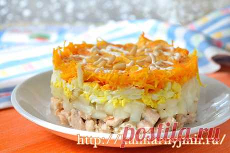 """Magic world of cookery. """"Лисичкина шубка&quot salad; with fish - it is tasty and unusual! - Magic world of cookery"""