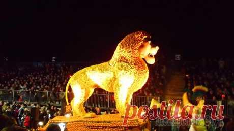 Вечернее цитрусовое шествие в Ментоне