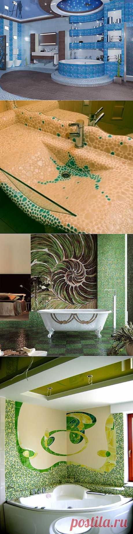 (+1) комм - Преобразите ванную комнату: использование мозаики | Интерьер и Дизайн