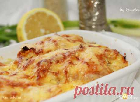 Филе на картофельной подушке с сырной корочкой - Рецепт с пошаговыми фотографиями - Ням.ру