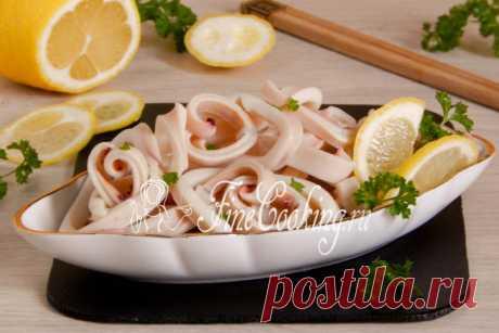 Маринованные кальмары - рецепт с фото