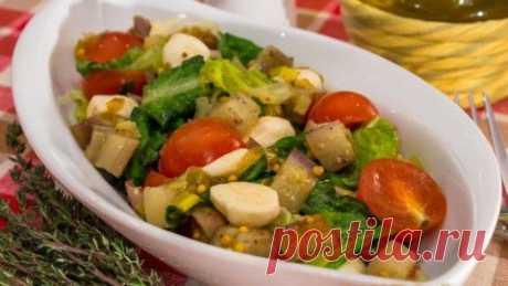 La ensalada con las berenjenas, los tomates y motsarelloy | Cuatro gustos