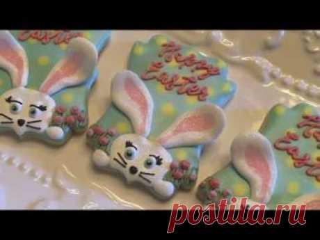 How to Decorate an Easter Cookie | 3D Bunny Ears Cookie