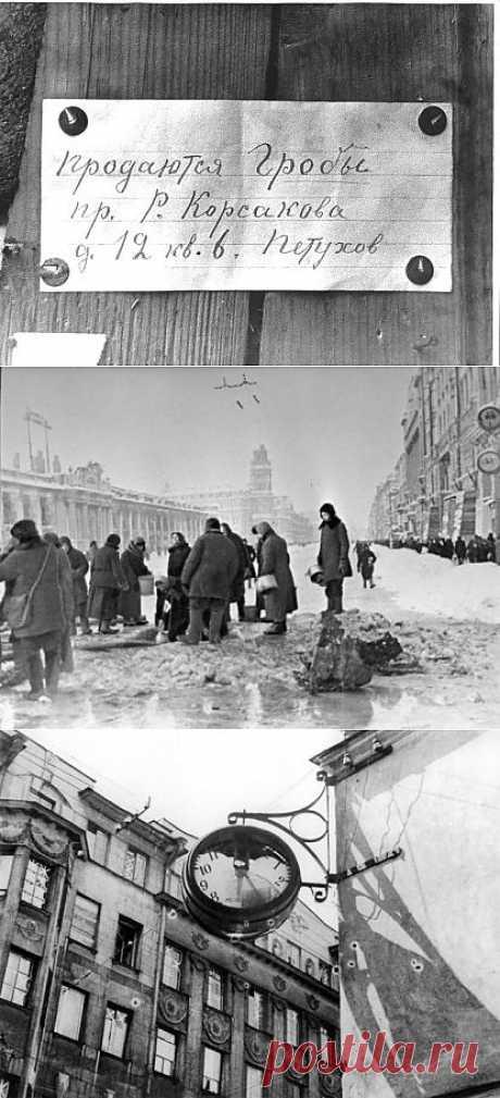 Блокада Ленинграда стала самой кровопролитной в истории человечества.РЕДКИЕ ФОТОГРФИ.