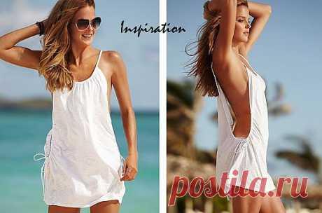 Пляжный сарафан из футболки (мастер-класс)