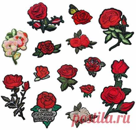 Roses , Flowers Patch, Patches, Patch, Iron on patch, Embroidered patch, Sewn on patch, Patches for jackets, Patches for backpacks, DIY