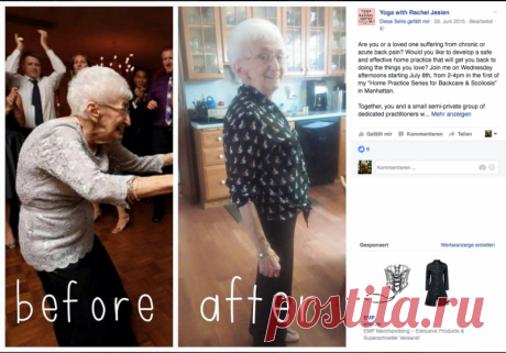 The 85-year-old grandmother changed the body by means of yoga Even the woman did not expect any more to get rid of pains until once went to visit the daughter