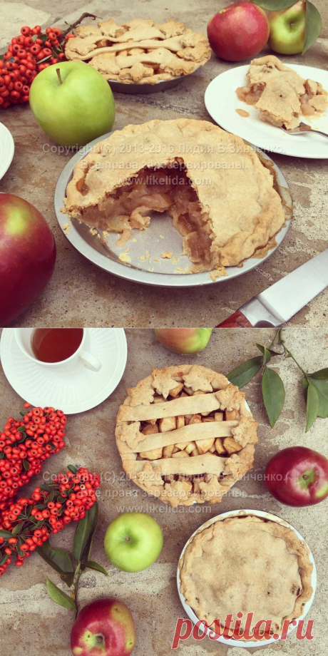Яблочный пирог на кокосовом масле (веганский) | LikeLida.com