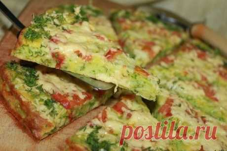 Pizza from vegetable marrows