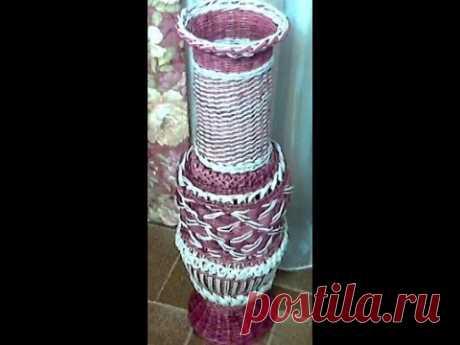мк напольной вазы с накладным ажуром часть 1
