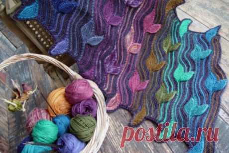 Изумительно красивые шарфы Светланы Гордон, связанные спицами… Впечатляющие работы! | Краше Всех