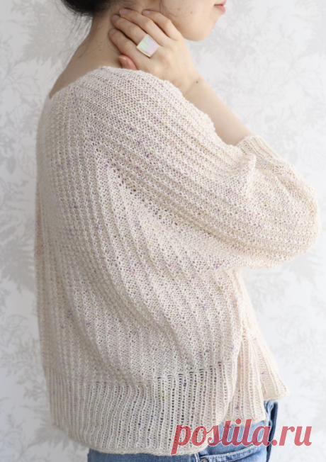 Вязаный пуловер Flores