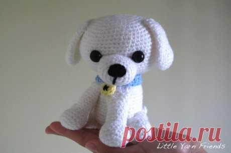 Амигуруми собака Kino: схема вязаной игрушки