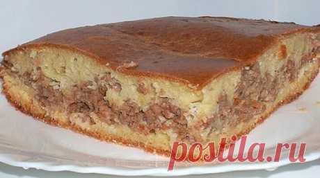 Как приготовить пирог с мясом «легче не бывает» - рецепт, ингредиенты и фотографии