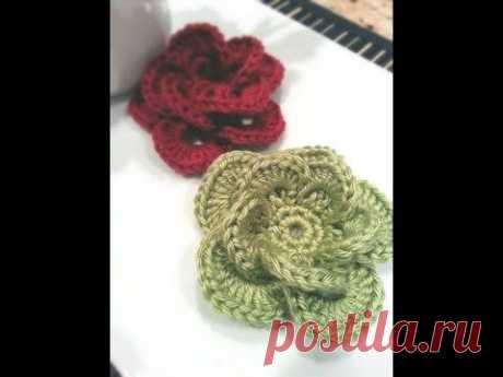 Wagon Wheel Flower: Free Pattern and Video Tutorial | B.hooked Crochet