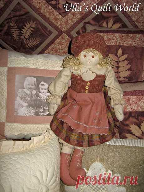Шьем куклу из мешковины.