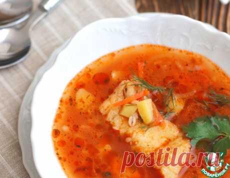 Томатный суп с треской и перловкой – кулинарный рецепт