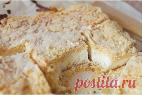Деревенский творожный пирог с песочной крошкой: смешал, насыпал, запек и съел! - Счастливый формат