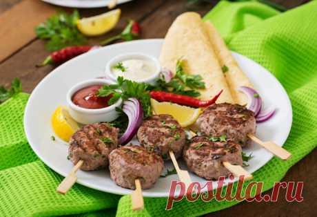 Кебаб из телятины по-гречески