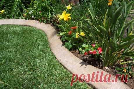 Бетонные бордюры для сада и дачи