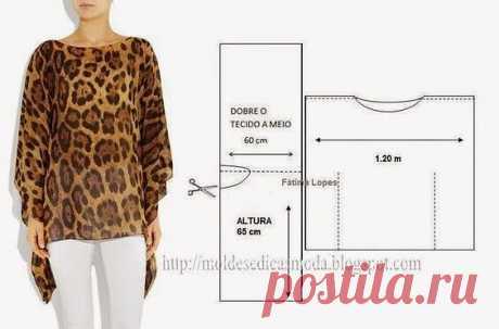 Простые в пошиве блузы. Идеи и выкройки  #прошитье #блуза