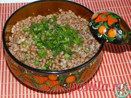 Гречка, приготовленная в термосе Кулинарный рецепт