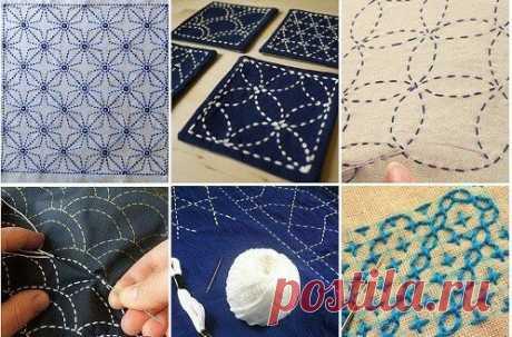 Сашико-японская стёжка на одежде. 7 примеров легко и просто преобразить надоевшие вещи   Провинциалка в теме   Яндекс Дзен